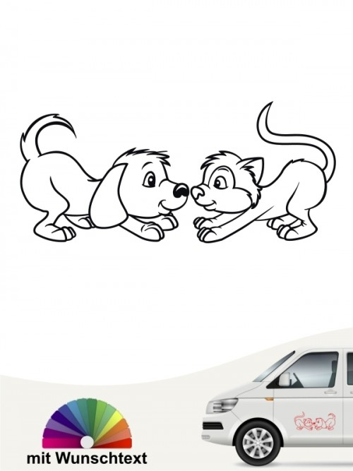 Hunde-Autoaufkleber Hund & Katze 3 von Anfalas.de