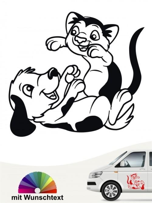 Hunde-Autoaufkleber Hund & Katze 4a von Anfalas.de