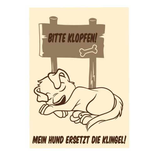 Hundeschild bitte klopfen Anfalas.de
