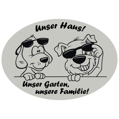 Hundeschild unser Haus Warnschild Hund Anfalas.de