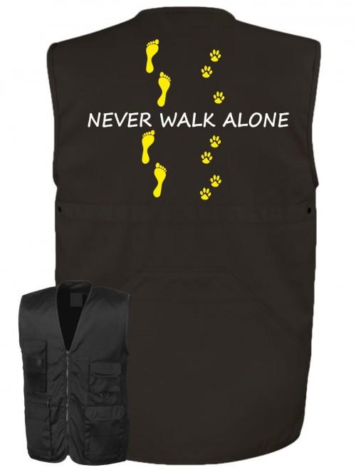 Hundesport Weste Never walk alone