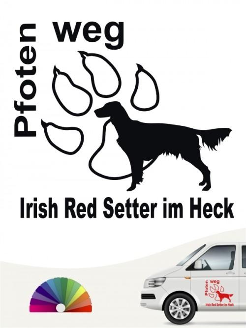 Irish Red Setter Pfoten weg Aufkleber von anfalas.de