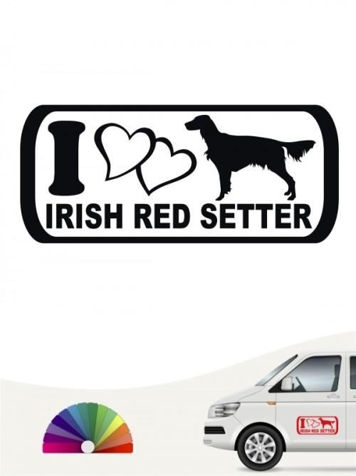 Irish Red Setter I Love Aufkleber von anfalas.de