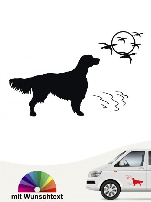Hunde-Autoaufkleber Irish Red & White Setter 10 von Anfalas.de
