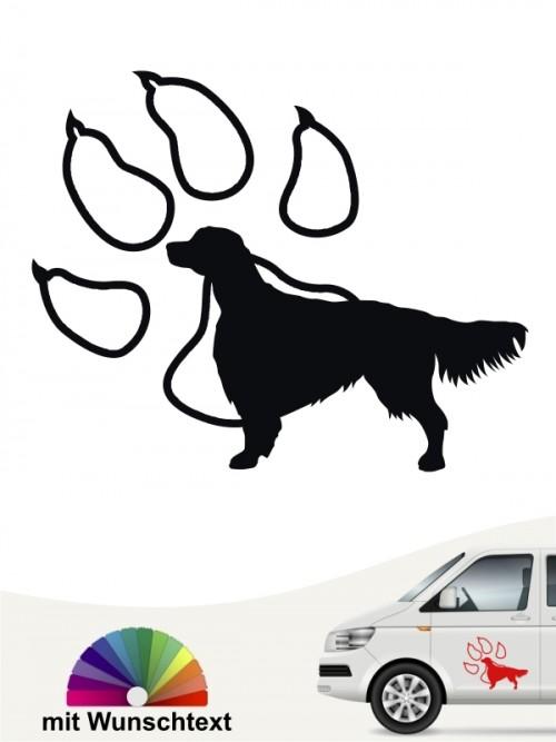 Hunde-Autoaufkleber Irish Red & White Setter 14 von Anfalas.de