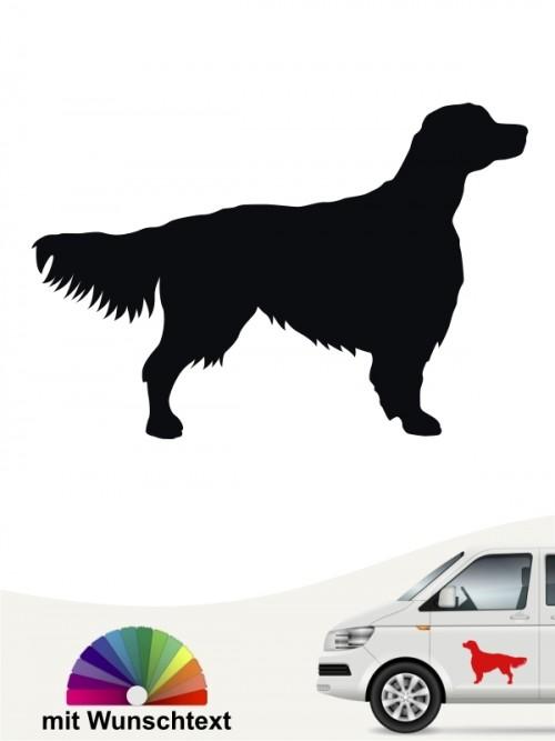 Hunde-Autoaufkleber Irish Red & White Setter 1 von Anfalas.de
