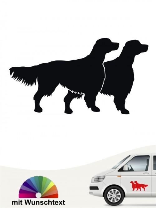 Hunde-Autoaufkleber Irish Red & White Setter 2 von Anfalas.de