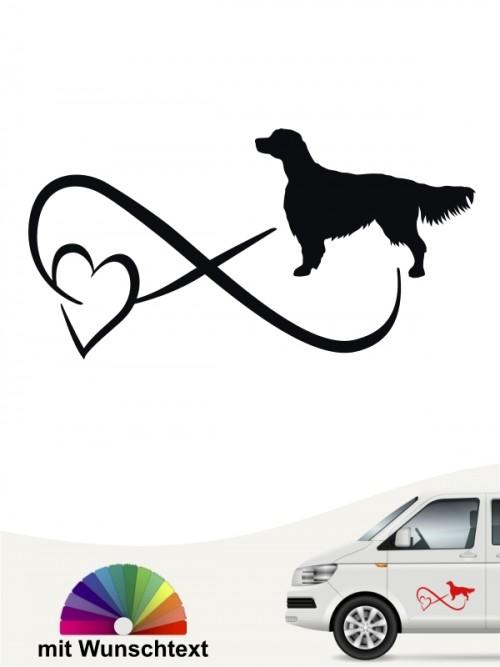 Hunde-Autoaufkleber Irish Red & White Setter 40 von Anfalas.de