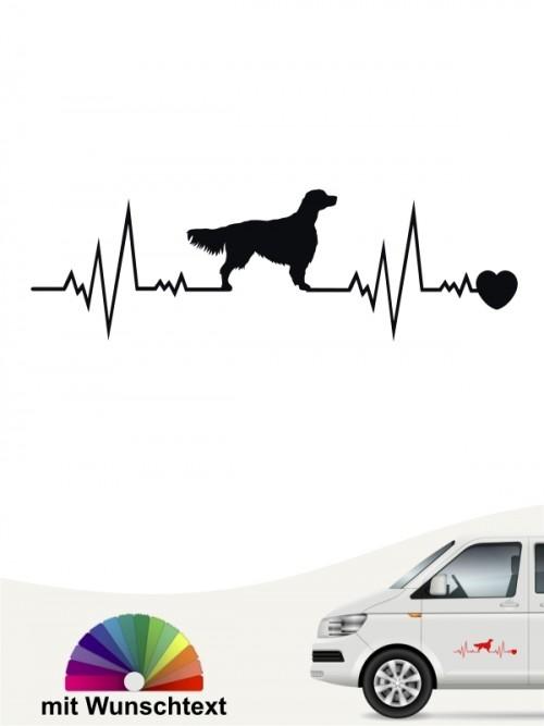 Hunde-Autoaufkleber Irish Red & White Setter 41 von Anfalas.de