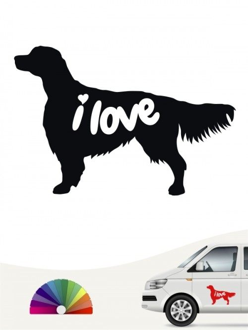 Hunde-Autoaufkleber Irish Red & White Setter 43 von Anfalas.de