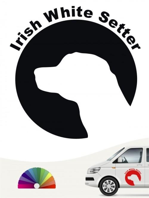 Hunde-Autoaufkleber Irish Red & White Setter 44 von Anfalas.de
