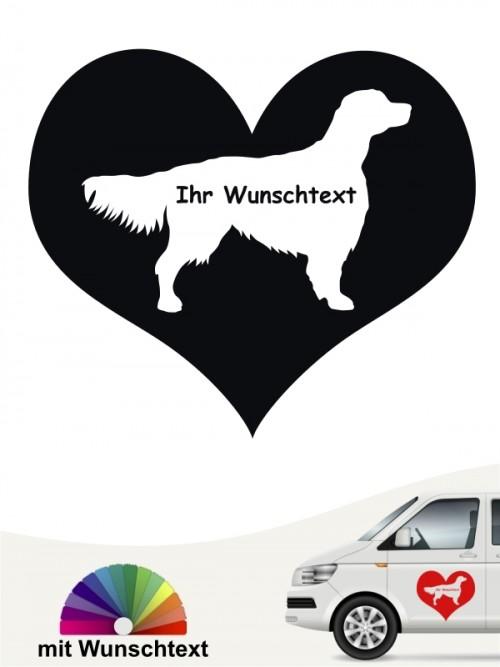 Hunde-Autoaufkleber Irish Red & White Setter 4 von Anfalas.de