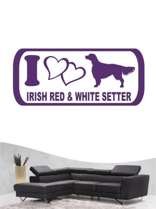 Irish Red & White Setter 6 - Wandtattoo