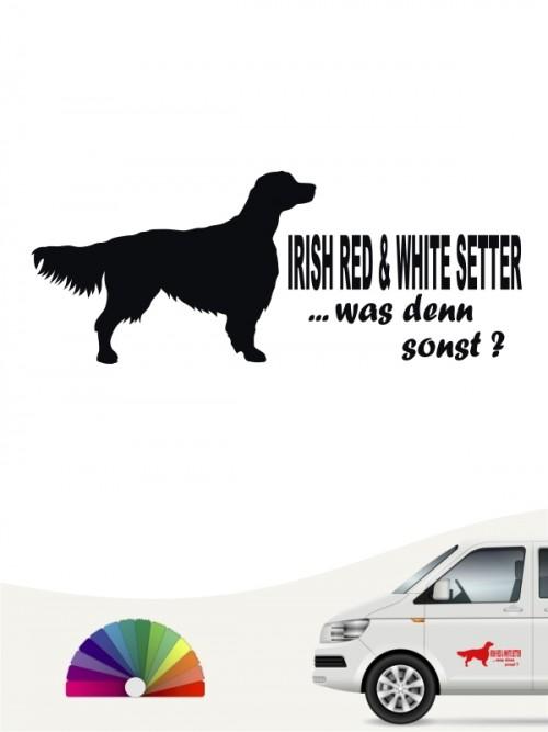 Hunde-Autoaufkleber Irish Red & White Setter 7 von Anfalas.de