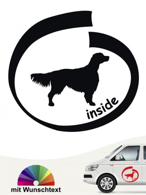 Hunde-Autoaufkleber Irish Red & White Setter 8 von Anfalas.de