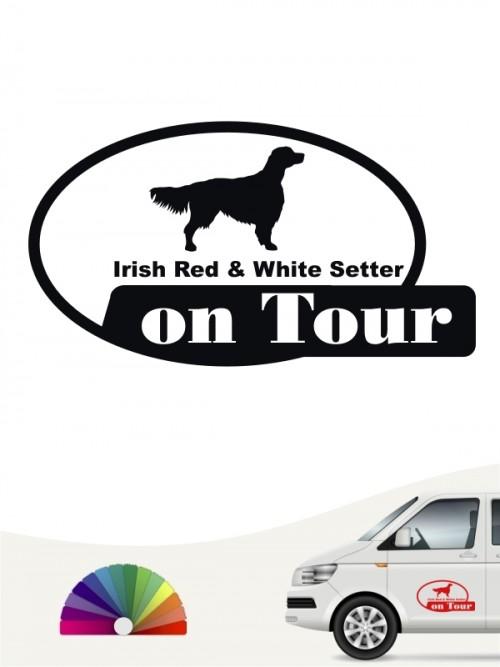 Hunde-Autoaufkleber Irish Red & White Setter 9 von Anfalas.de