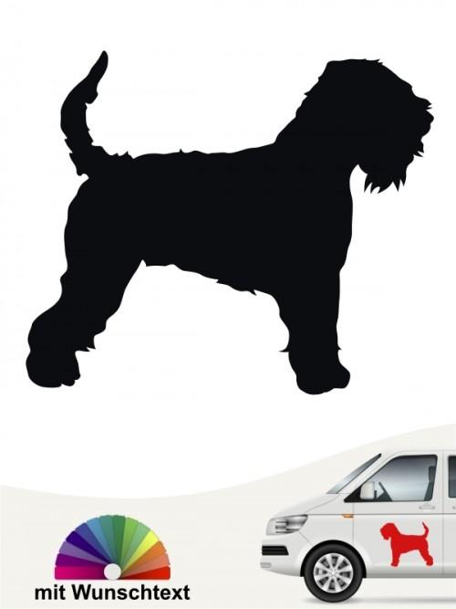 Irish Soft C. W. Terrier Heckscheibenaufkleber mit Wunschtext von anfalas.de
