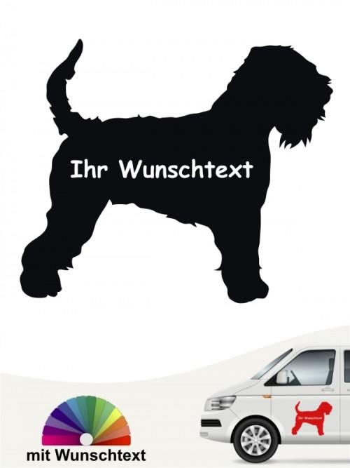 Irish Soft C. W. Terrier Silhouette Aufkleber mit Wunschname von anfalas.de