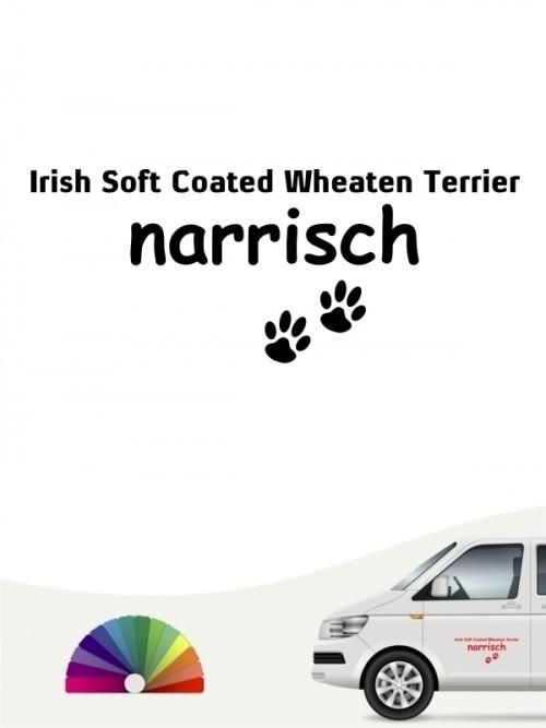Hunde-Autoaufkleber Irish Soft Coated Wheaten Terrier narrisch von Anfalas.de