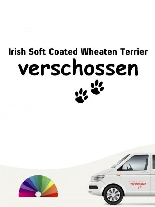 Hunde-Autoaufkleber Irish Soft Coated Wheaten Terrier verschossen von Anfalas.de