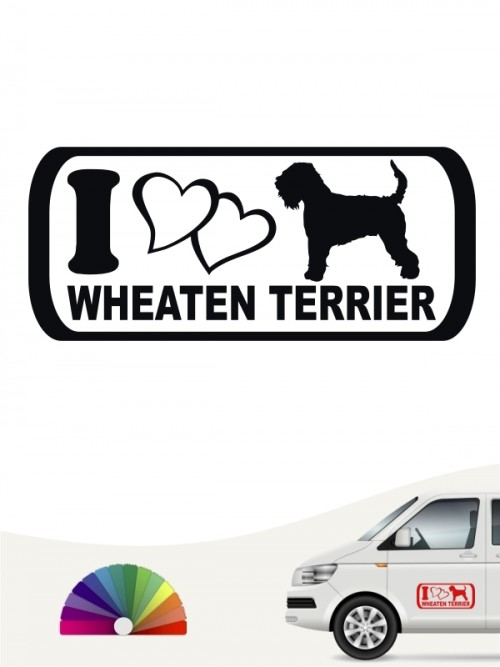 I Love Irish Soft C. W. Terrier Sticker von anfalas.de