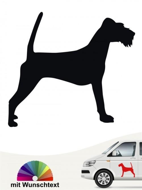 Irish Terrier Heckscheibenaufkleber mit Wunschtext von anfalas.de