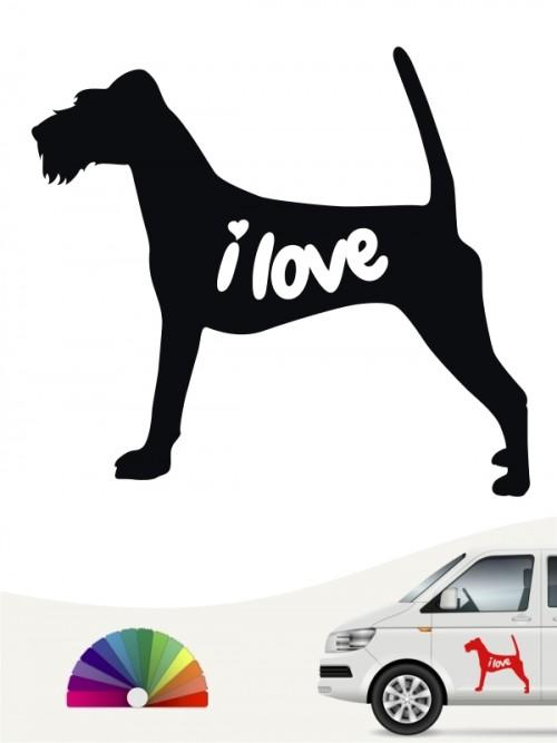 Irish Terrier  i love Aufkleber von anfalas.de