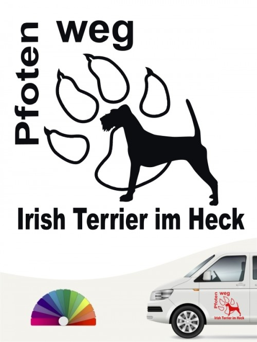 Irish Terrier Pfoten weg Autoaufkleber von anfalas.de