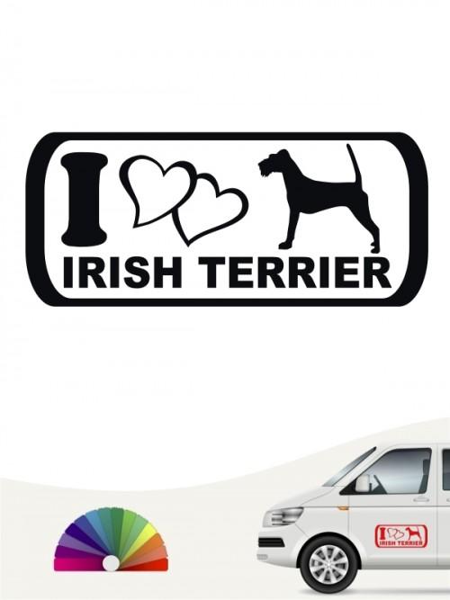 I Love Irish Terrier Heckscheibenaufkleber von anfalas.de