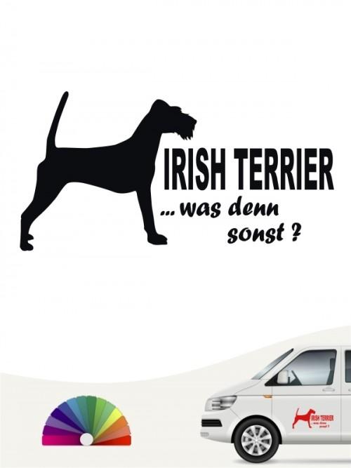 Irish Terrier was denn sonst Autosticker von anfalas.de