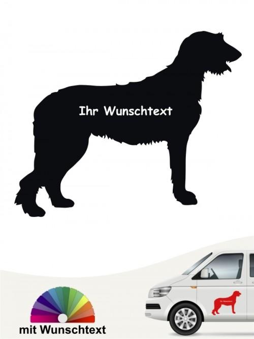 Irish Wolfhound Autosticker mit Wunschname von anfalas.de