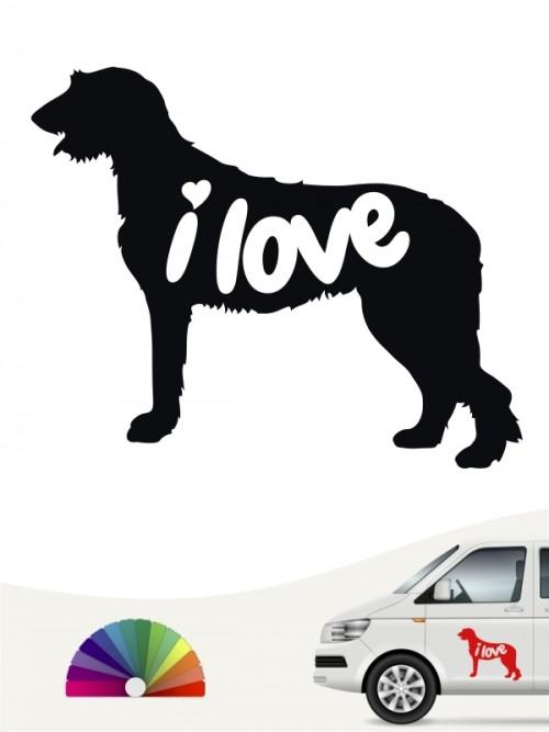 Irish Wolfhound  i love Aufkleber von anfalas.de