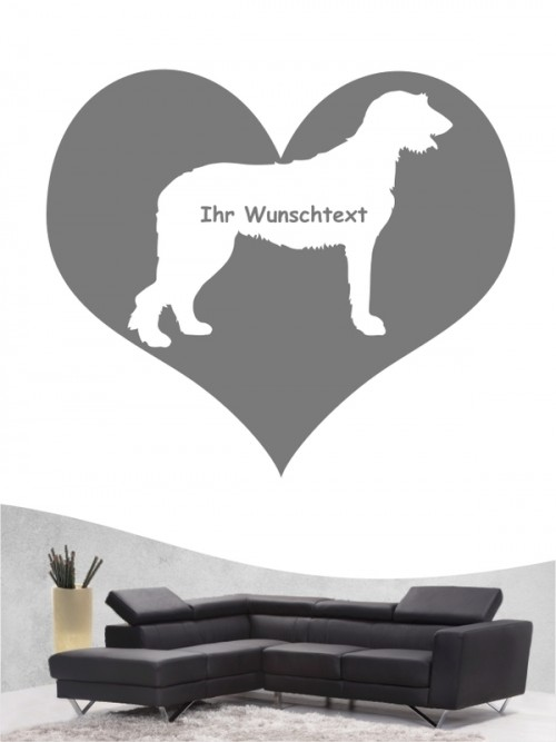 Irish Wolfhound 4 - Wandtattoo