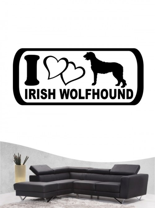 Irish Wolfhound 6 - Wandtattoo