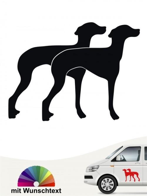 Doppel Silhouette ital. Windspiel Sticker von anfalas.de