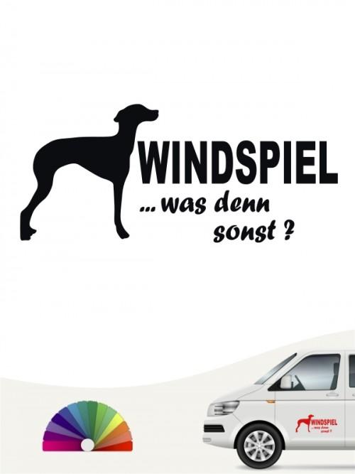 Windspiel was denn sonst Autosticker von anfalas.de