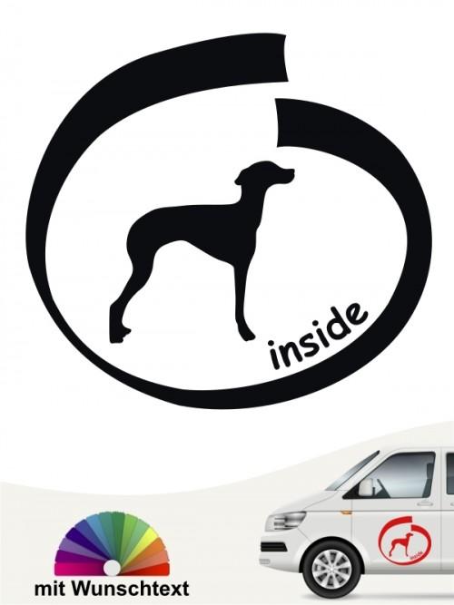 Ital. Windspiel inside Hundeaufkleber von anfalas.de