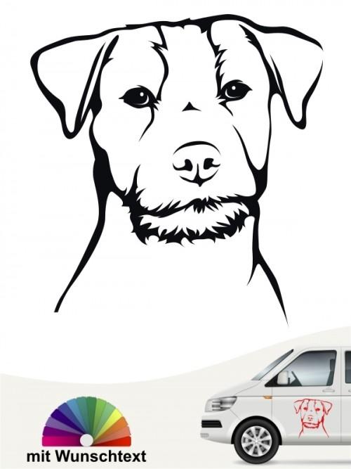 Jack Russell Terrier Hundeaufkleber mit Wunschtext von Anfalas