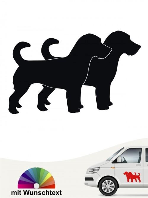 Jack Russell Terrier Autosticker mit Wunschtext von anfalas.de