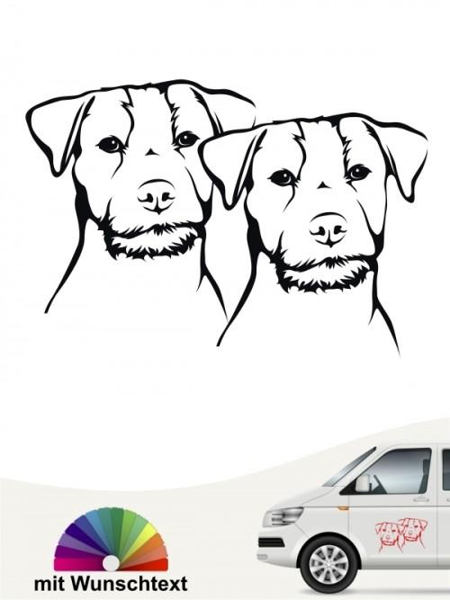 Hunde-Autoaufkleber Jack Russell Terrier 30 von Anfalas.de