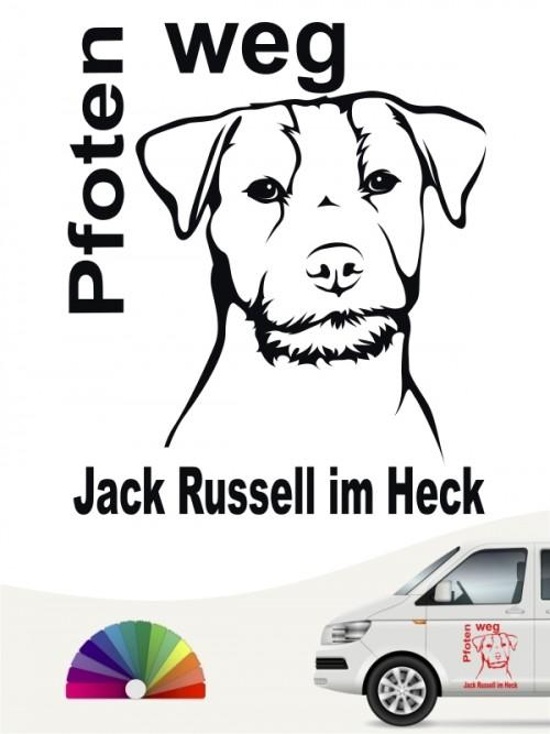 Jack Russell Terrier Pfoten weg Autosticker von anfalas.de