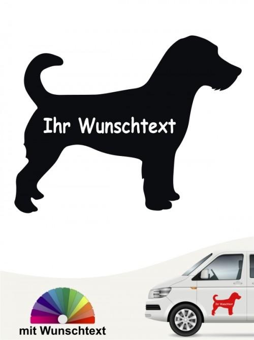 Jack Russell Terrier Sticker mit Wunschname von anfalas.de