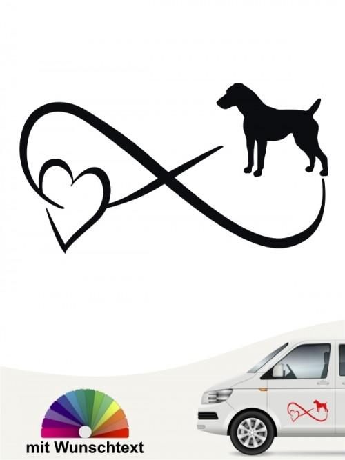 Jack Russell Terrier Autoaufkleber von anfalas.de