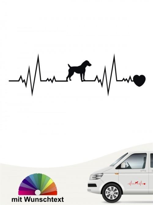 Jack Russell Terrier Hundeaufkleber von anfalas.de