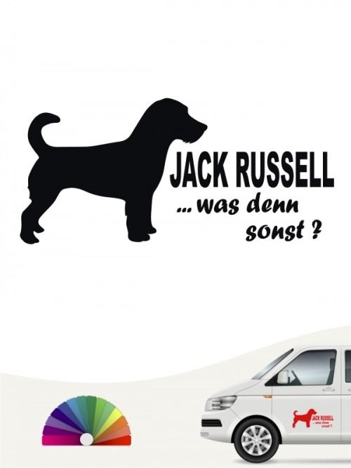 Jack Russell Terrier was denn sonst Autoaufkleber von anfalas.de