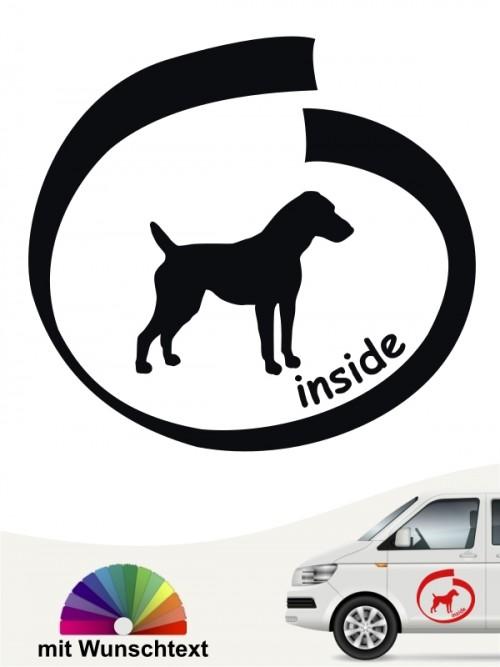 Jack Russell inside Hundeaufkleber mit Wunschtext von anfalas.de