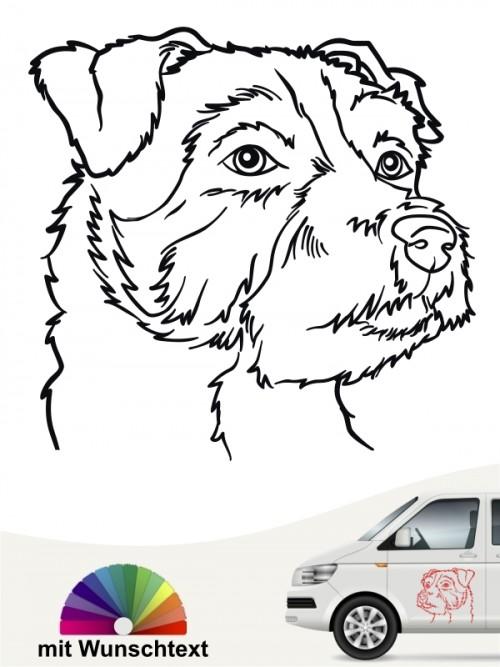 Jack Russell Terrier Heckscheibenaufkleber von anfalas.de