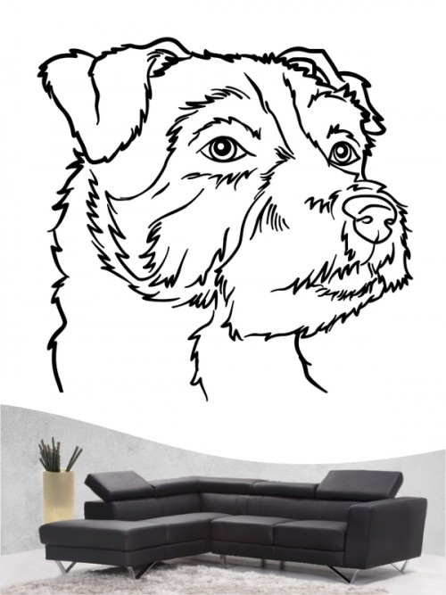 Jack Russell Terrier a - Wandtattoo