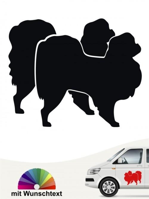 Zwei Japan Chin Hundeaufkleber mit Namen anfalas.de