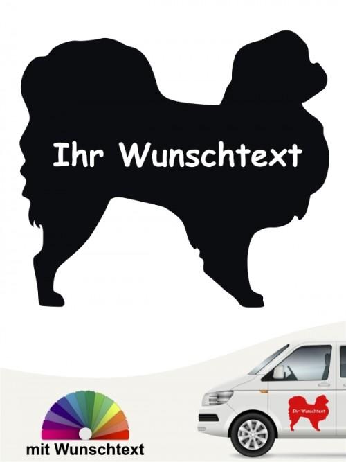 Japan Chin Silhouette Autosticker mit Wunschname von anfalas.de